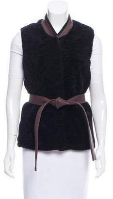 Acne Studios Shearling Leather-Trimmed Vest