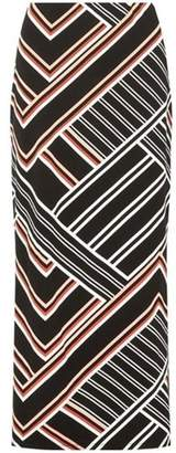 Dorothy Perkins Womens Multi Coloured Geometric Striped Maxi Skirt