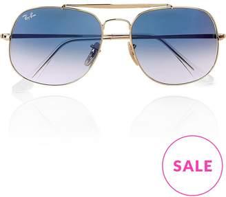 Ray-Ban Marshal Hexagonal Aviator Sunglasses- Gold