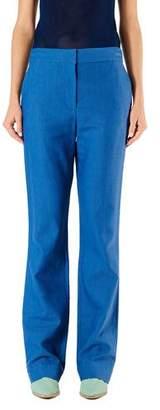 Tibi Jamie Linen-Viscose Suiting Boot-Cut Pants