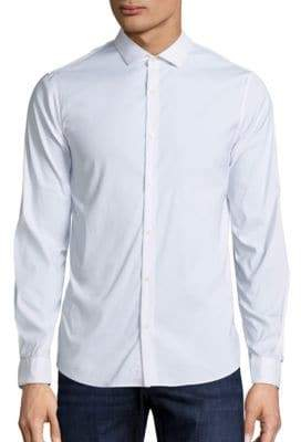 Michael Kors Slim-Fit Stretch Button-Down Shirt