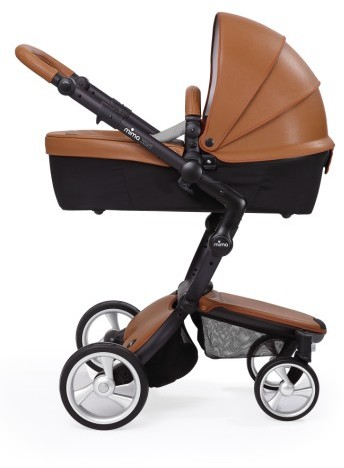 Infant Mima Xari Black Frame Stroller With Reversible Reclining Seat & Carrycot 5