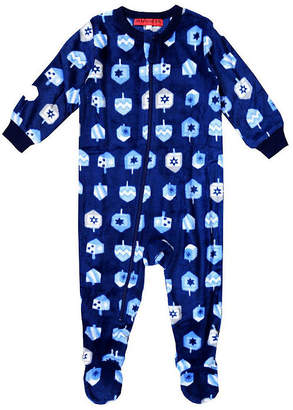 HOLIDAY #FAMJAMS Holiday Famjams Hanukkah 1 Piece Footed Pajama - Baby Unisex