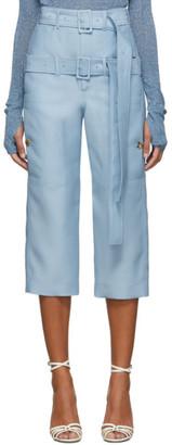 Lanvin Blue Cropped Double Belt Trousers