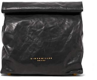 Simon Miller Lunchbag 20 Crinkled-leather Clutch - Black 2c5b46caf0
