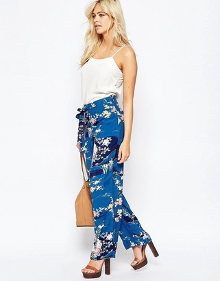 Oasis Floral Printed Palazzo Pant $69 thestylecure.com