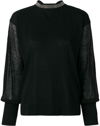 Fabiana Filippi sheer sleeve jumper