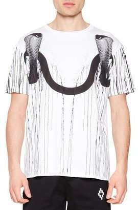 Marcelo Burlon Double Snake-Head Graphic Tee, White $245 thestylecure.com