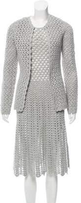 Michael Kors Open Knit Midi Dress Set