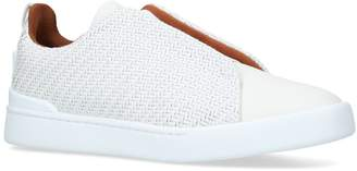 Ermenegildo Zegna Leather Pellatessuta Sneakers