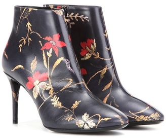 Balenciaga Printed leather ankle boots