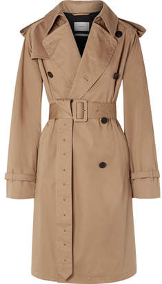 BEIGE CASASOLA - Oversized Cotton-gabardine Trench Coat