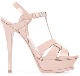 Saint Laurent 'Classic Tribute 105' sandals $895 thestylecure.com
