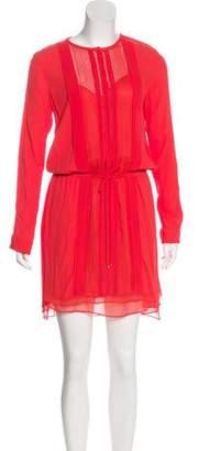 Diane von Furstenberg Pleated Long Sleeve Dress