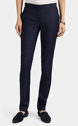 The Row Women's Franklin Worsted Wool Super-Slim Trousers - Navy