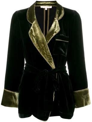 Gold Hawk velvet blazer