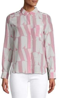 Marella Vita Print Button-Down Shirt