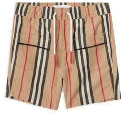 Burberry (バーバリー) - Burberry Burberry Baby's& Little Boy's Conroy Icon Pajama Shorts - Archive Beige - Size 12 Months