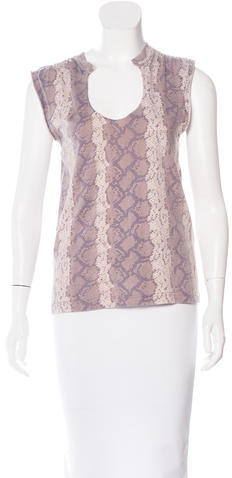 Marc Jacobs Marc Jacobs Sleeveless Snakeskin Print Top