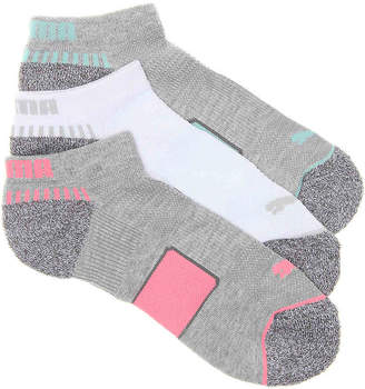 Puma Cushioned No Show Socks - 3 Pack - Women's