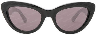 Balenciaga Cat Eye Sunglasses in Black | FWRD