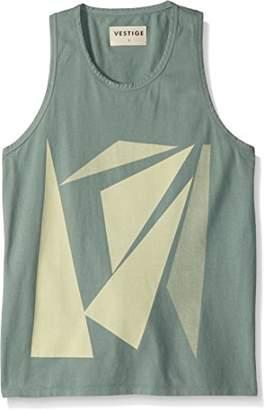 Vestige Men's Apparel Men's Floating Triangles Cotton Tank Top