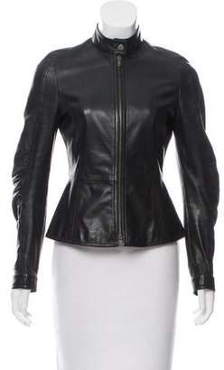 Emporio Armani Tailored Leather Jacket