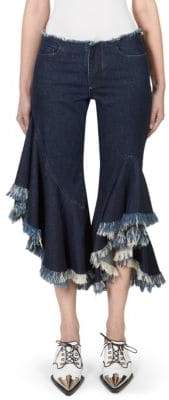 Marques'Almeida Cropped Frayed Jeans