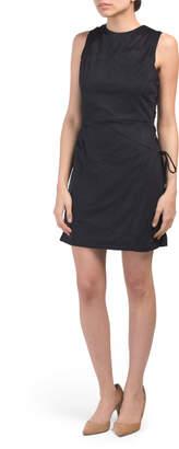 Side Tie Faux Suede Dress