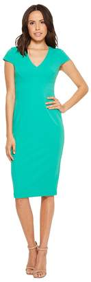 Donna Morgan Cap Sleeve Fitted Stretch Crepe Sheath Dress Women's Dress