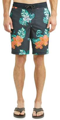 George Men's Hibiscus Eboard Swim Short, up to size 5XL