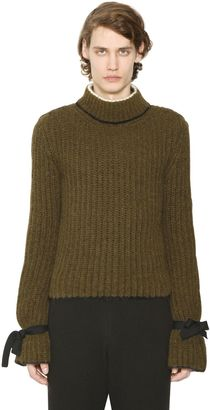 Alpaca & Wool Sweater With Elastic Ties $980 thestylecure.com