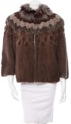 Brunello Cucinelli Mink Patchwork Jacket