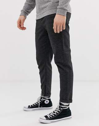 21c4dae5f810 Selected slim tailored trousers with zip opening in ankle length