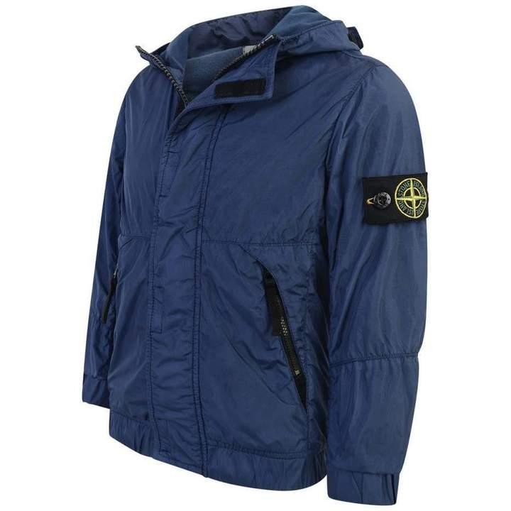 Stone IslandBoys Navy Blue Lightweight Jacket