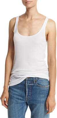 Vince Ribbed Scoop-Neck Tank Top
