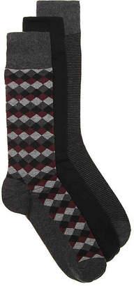 Cole Haan Diamond Dress Socks - 3 Pack - Men's