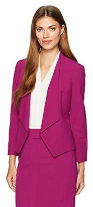 Nine West Women's Kiss Front Jacket with Notch Collar