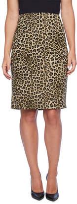 Evan Picone BLACK LABEL BY EVAN-PICONE Black Label by Evan-Picone Leopard Print Suit Skirt