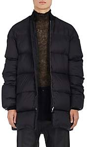 Rick Owens MEN'S OVERSIZED TECH-TAFFETA PUFFER COAT-BLACK SIZE 48 EU