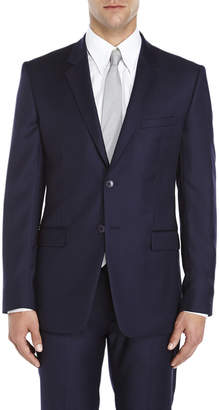 American Designer Navy Two-Button Slim Fit Wool Suit Jacket