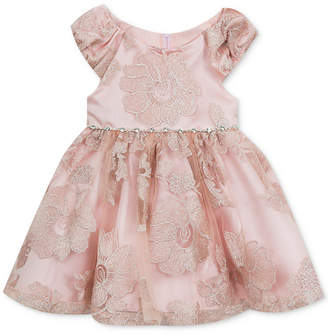 Rare Editions Baby Girls Mesh Fit & Flare Dress