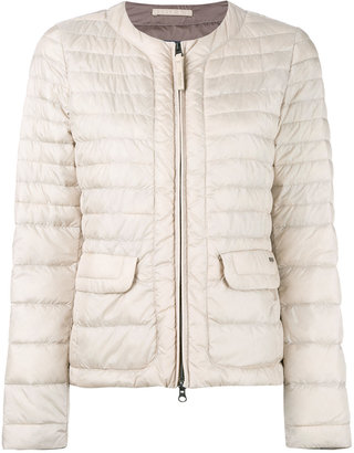 Woolrich contrast padded jacket $322.96 thestylecure.com