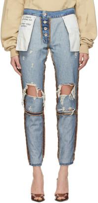 Unravel Indigo Vintage Distressed Reverse Jeans