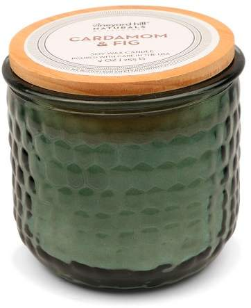Vineyard Hill Naturals Container Candle Cardamom/Fig 9oz - Vineyard Hill Naturals by Paddywax