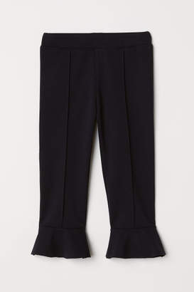 H&M Flounced Leggings - Black