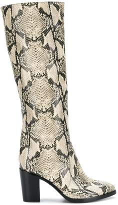 Schutz snakeskin design boots