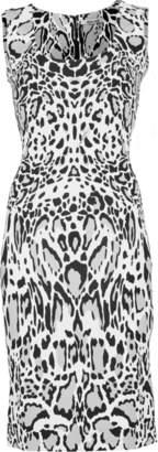 Roberto Cavalli Sleeveless Silk Leopard Mini Dress