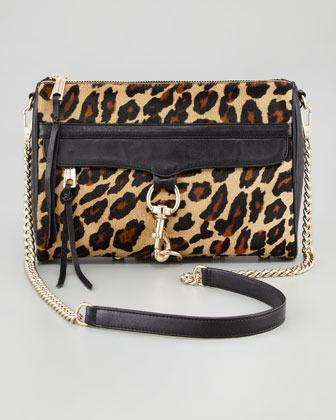 Rebecca Minkoff M.A.C. Leopard-Print Calf Hair Crossbody Bag