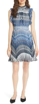 Kate Spade stephana deco ruffle dress